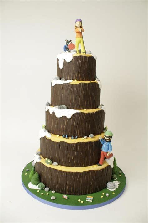 Mountain climbing cake? You have to love the intricate