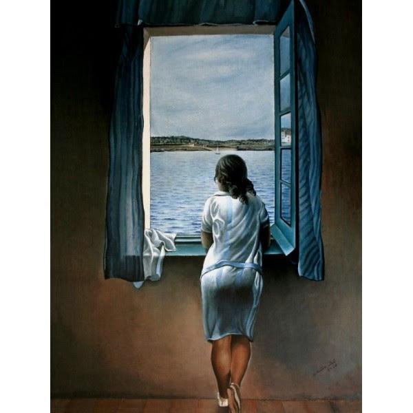 mujer en una ventana bilaketarekin bat datozen irudiak