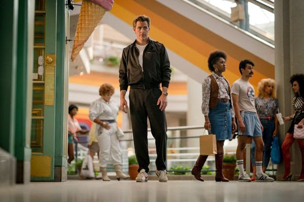 A promo pic of Steve Trevor (Chris Pine) back from the dead in WONDER WOMAN 1984.