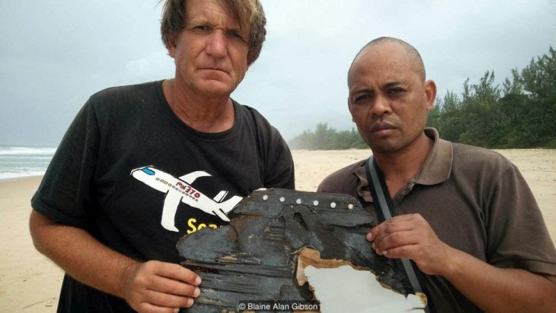 Gibson found more possible debris in Madagascar (Credit: Blaine Alan Gibson)