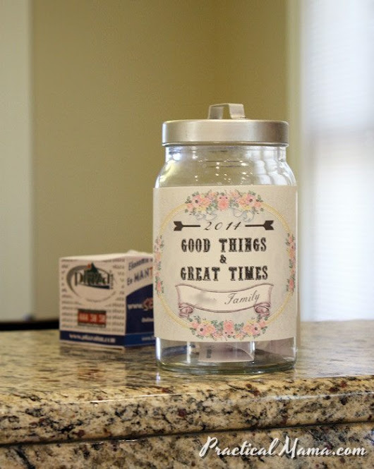 Good Things & Great Times Jar - Practical Mama