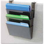 Deflecto Stackable Wall DocuPocket - Wall file pocket system - 3 compartments - Letter - smoke