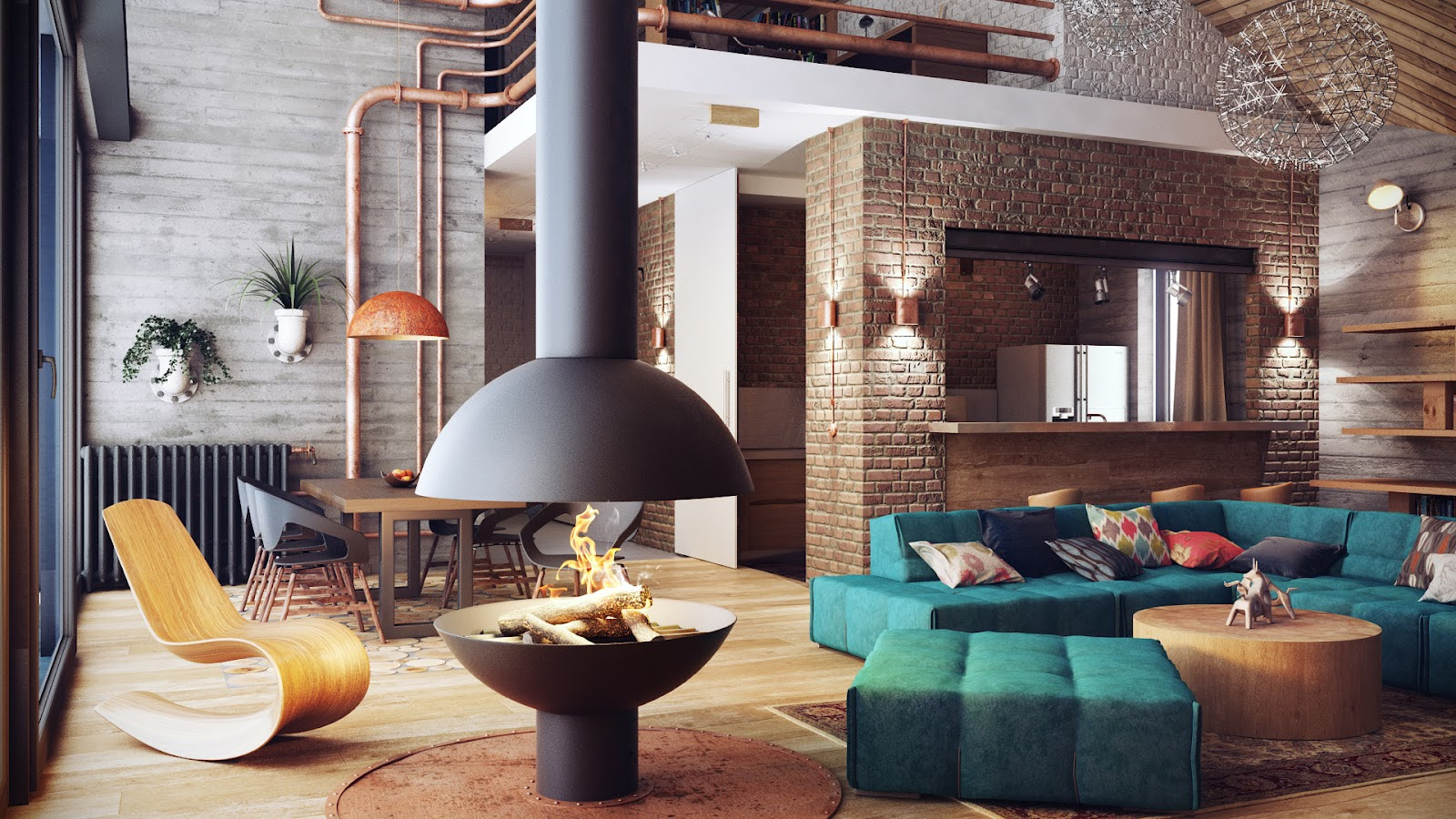 Loft-Like Interior Design by Uglyanitsa Alexander | HomeDSGN, a