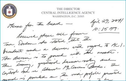 Sample CIA Letterhead