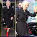Helen Mirren Sports Colorful Dress for BBC Radio 1 Appearance Helen Mirren waved to the cameras while...