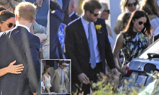PICTURE EXCLUSIVE: Meghan Markle and Prince Harry at friend's wedding