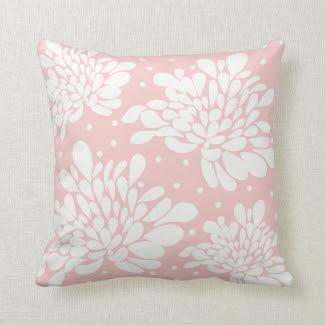 Elegant White Floral Pattern Pink