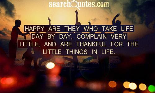 Be Thankful For The Little Things Quotes Quotations Sayings 2019