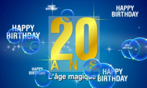 texte carte joyeux anniversaire 20 ans