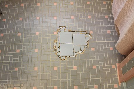 Can we help EarthaKitsch find tile to fill in the gap in her pink ...
