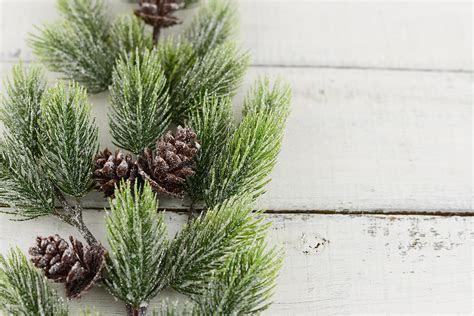 artificial pine branches  pine cones