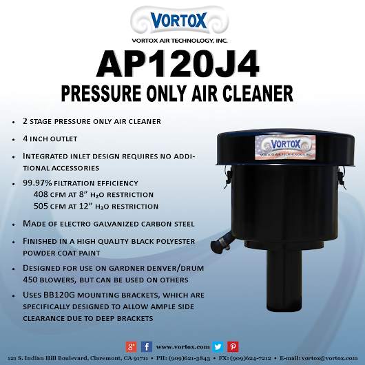 Vortox Truck Blower Air Cleaners: AP120J4
