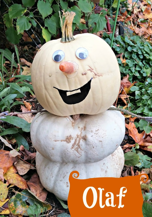 Make Disney's Olaf (From Frozen) Using Pumpkins this Fall! - Thrifty NW Mom