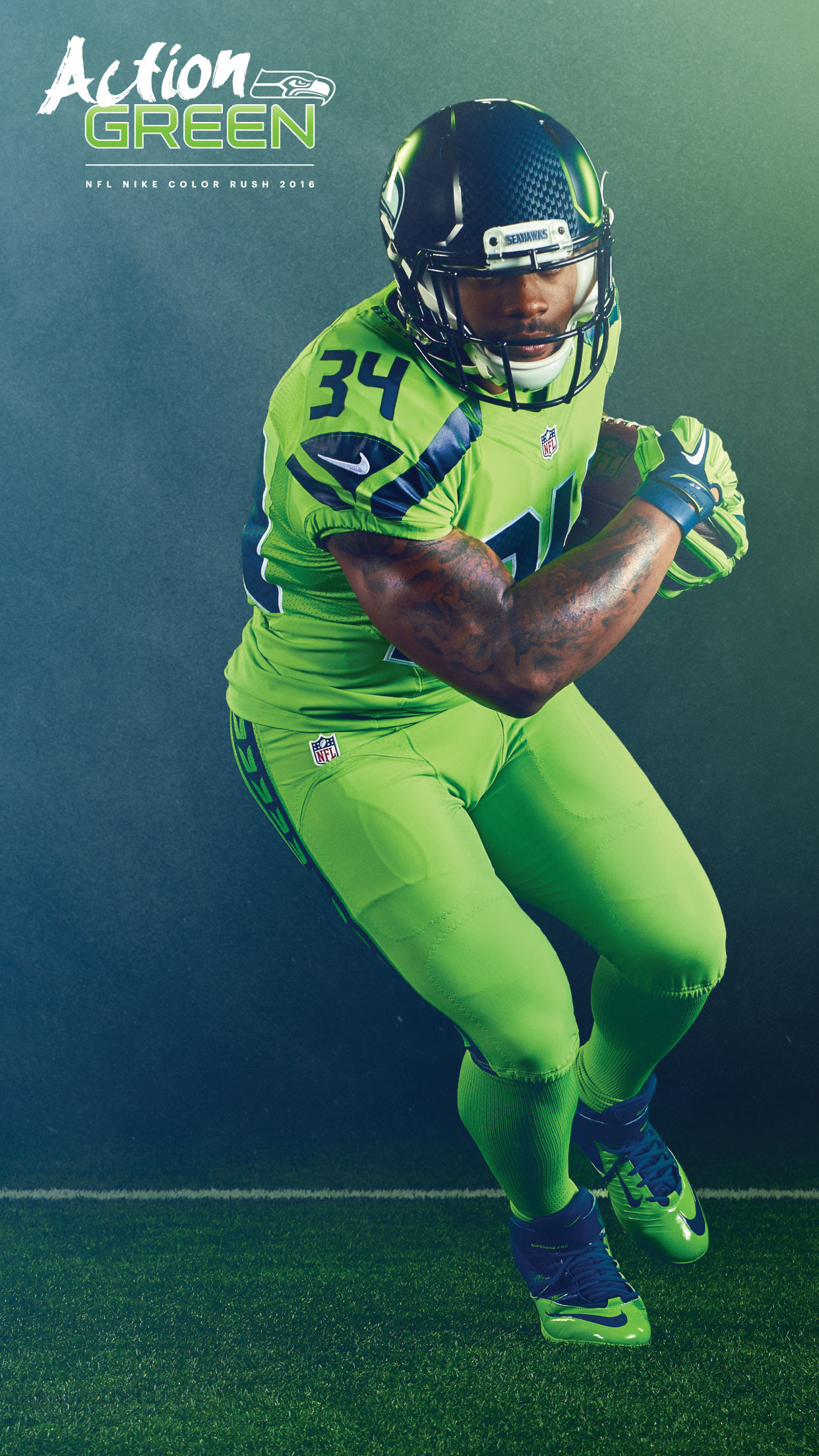 Get Inspired For Wallpaper Russell Wilson Color Rush Jersey Photos