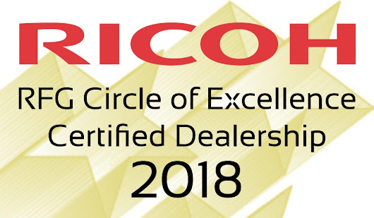 Valley Office Systems Named 2018 RFG Circle of Excellence Certified Dealership