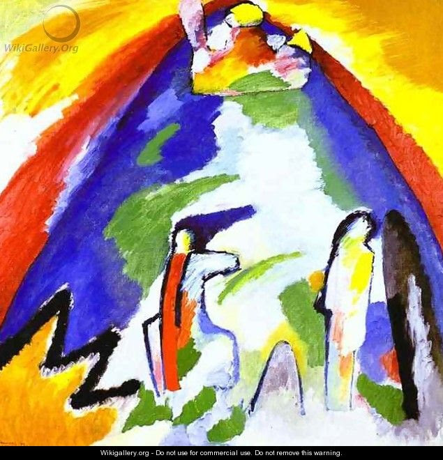 Mountain Wassily Kandinsky Wikigalleryorg The Largest Gallery