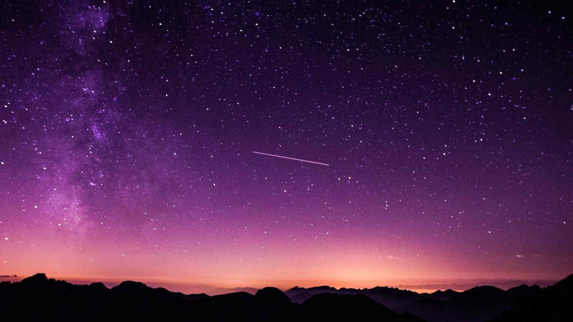 耀眼唯美星空美景图片电脑壁纸 手机壁纸 桌面天下手机版