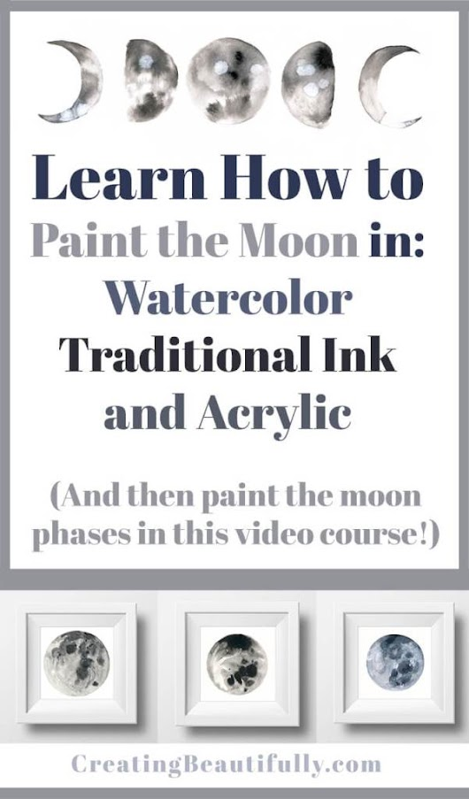 How to Paint the Moon Phases