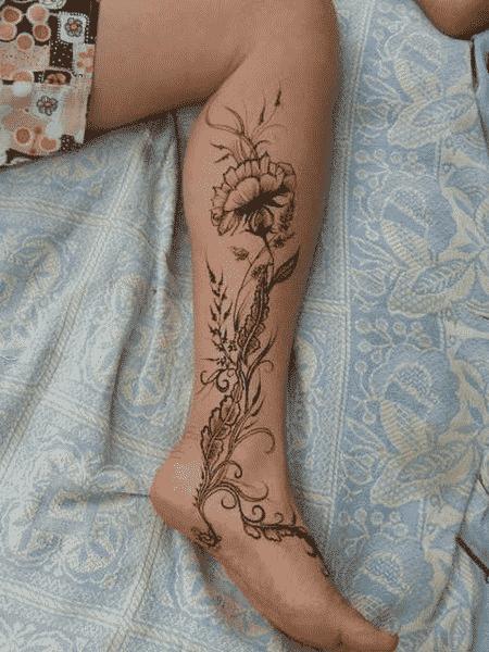 15 Originales Tatuajes Para La Pierna De Las Mujeres Bien Femeninos