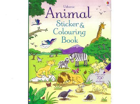 animal sticker coloring book usb jedko games