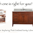 Refinishing Or Replacing Your Bathroom Vanity Cabinet - Home Makeover Diva