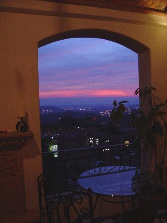 View at night from private outdoor Jacuzzi and wet bar - Picture ...