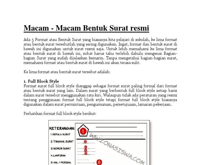 Download Contoh Surat Lamaran Kerja Full Block Style Pictures Contohsurat Lif Co Id