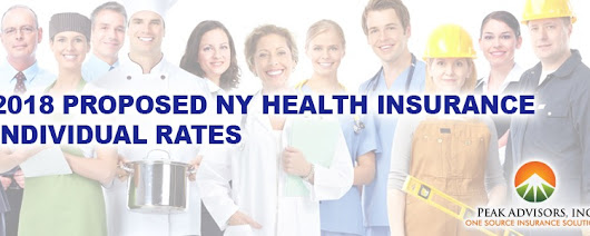 2018 Proposed NY Health Insurance Individual Rates
