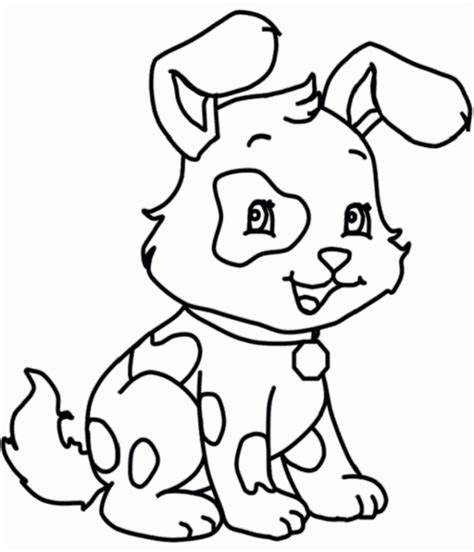 easy dog coloring pages kids animal coloring pages