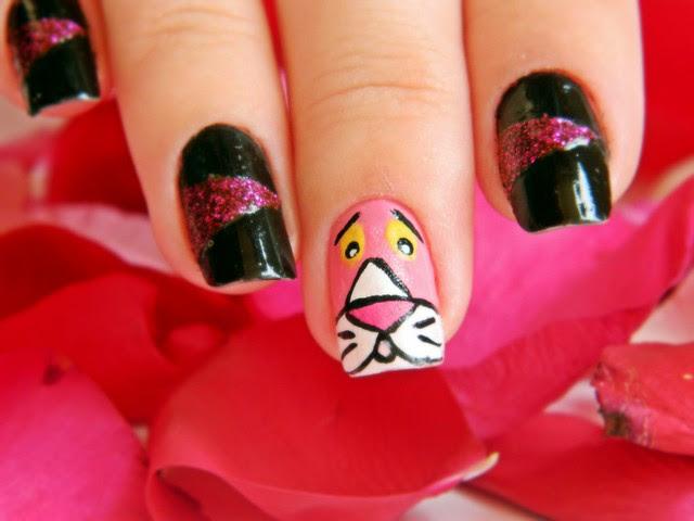 juliana leite nail art pink pantera cor de rosa unhas decoradas 015