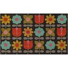 Novogratz Flower Hand Woven Doormat, Multicolor