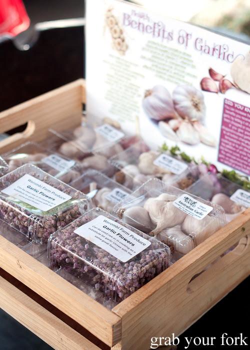 Australian garlic and garlic at Frenchs Forest Organic Food Market