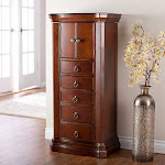 Belham Living Luxe 2-Door Jewelry Armoire - Mahogany Finish