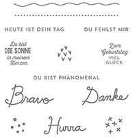 Sonnengruß Clear-Berg Stamp Set (deutsch) von Stampin 'Up!