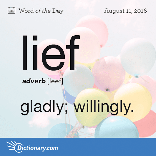 lief Word of the Day | Dictionary.com