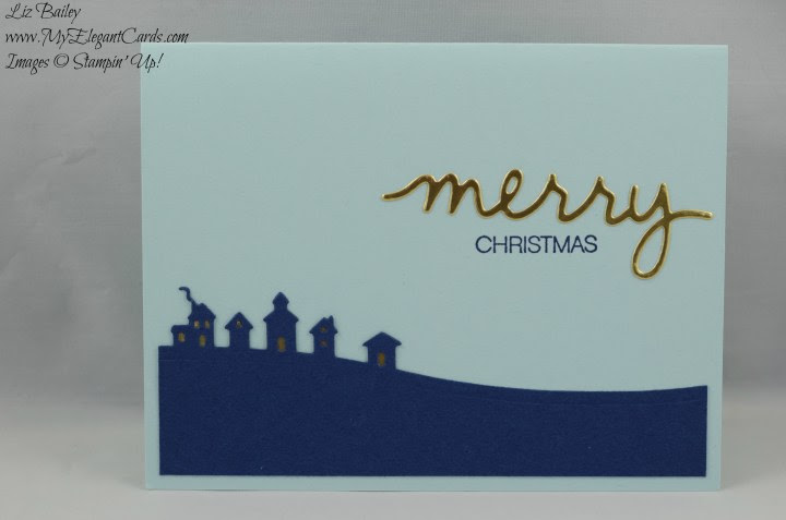Stampin' Up! Sleigh Ride edgelits and holly jolly greetings and christmas greetings thinlits