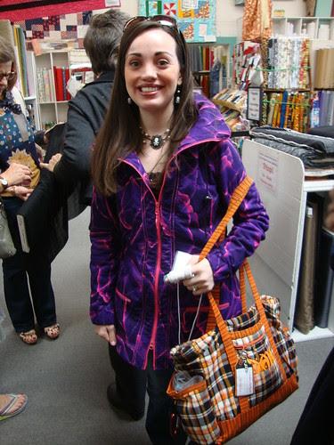 Amity and her Sewaholic Minrou jacket