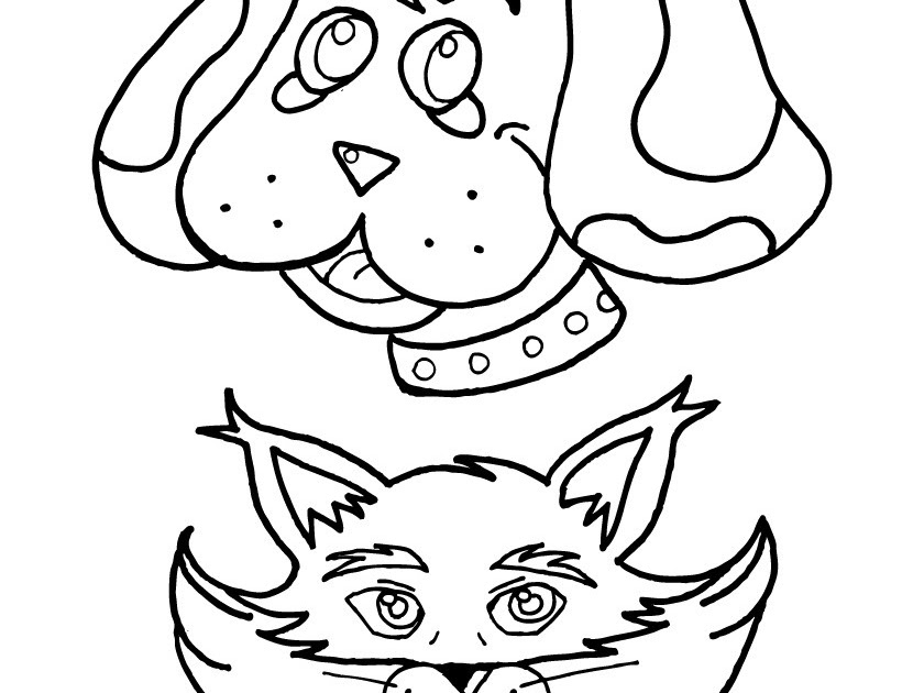 go dog go coloring pages - cat and dog coloring pages coloring pages