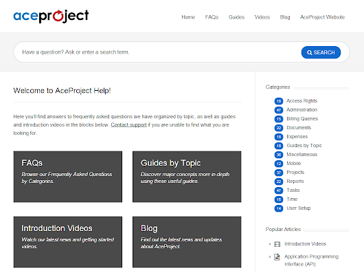 Tip of the month: New online help and videos  |  AceProject Blog