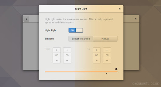 Hands on with the New Night Light feature in GNOME 3.24