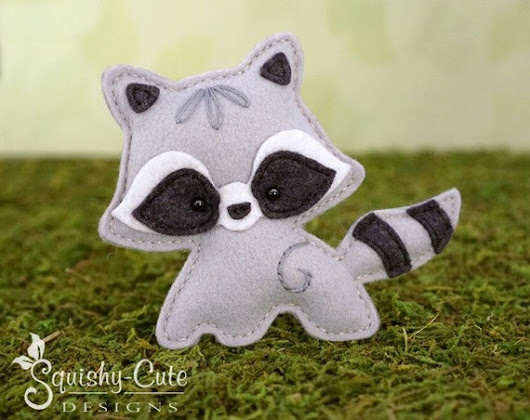 Raccoon Sewing Pattern PDF  Felt Baby by SquishyCuteDesigns