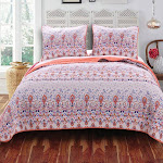 Barefoot Bungalow Amber Quilt and Sham Set - Full/Queen Multi