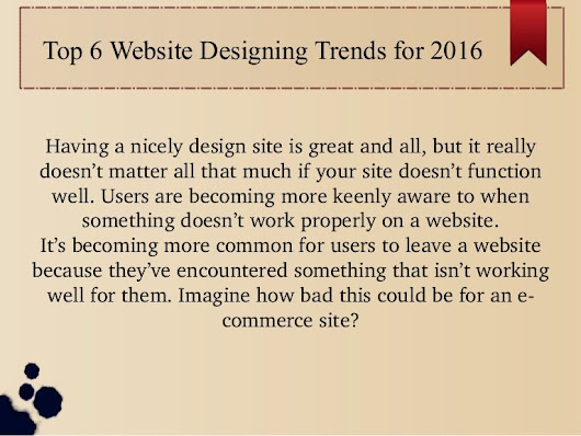 Top 6 website designing trends for 2016