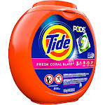 Tide PODS Laundry Detergent Pacs Fresh Coral Blast - 81ct