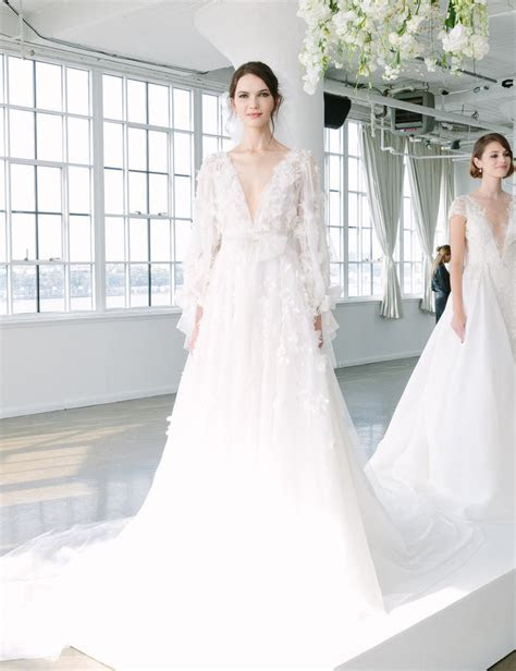 10 Dreamy Wedding Gowns From Marchesa?s Fall 2018