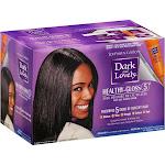 Dark and Lovely Healthy Gloss 5 Relaxer, Shea Moisture No-Lye, Regular