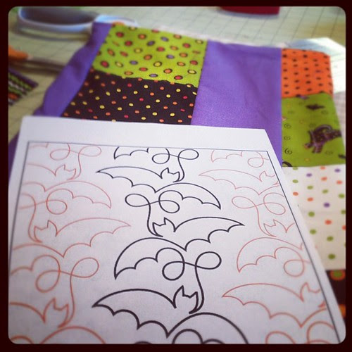About to go and quilt my Trick or Treat charm quilt #notgoingtosewongsummit