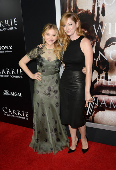 Chloe Grace Moretz Actors Chloë Grace Moretz and Judy Greer arrive at the premiere of Metro-Goldwyn-Mayer Pictures & Screen Gems' 'Carrie' at ArcLight Cinemas on October 7, 2013 in Hollywood, California.