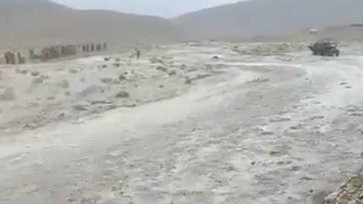 Watch: Flash flood appears in middle of desert | Flood risk