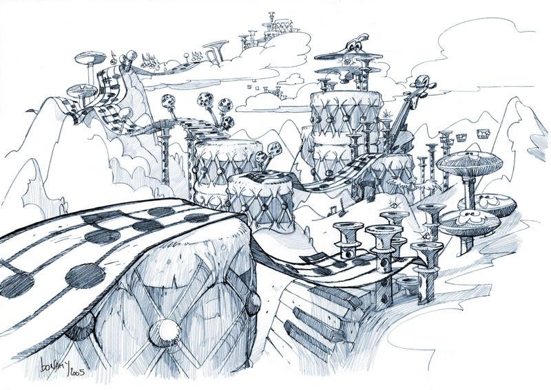 Artwork Rayman 4 le Ciel Chromatique